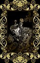 Graphical illustration of a Tarot card 14 Royalty Free Stock Photo