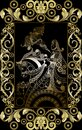 Graphical illustration of a Tarot card 15 Royalty Free Stock Photo