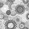 Graphical seamless pattern Royalty Free Stock Photo