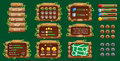 Graphical user Interface GUI for mobile game or app. Design, buttons and icons.