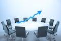 Graphique de table de conférence Photo stock