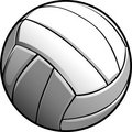 Graphisme d'image de bille de volleyball Images stock