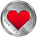Graphisme industriel de coeur ou d'amour Photo stock