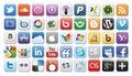 Graphismes sociaux de /network de medias Photographie stock libre de droits
