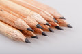 Graphite pencils wooden for sketching shot closeup background Royalty Free Stock Photo
