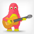 Grappig Monster. Gitarist. Stock Foto