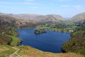 Grasmere from loughrigg fell english lake district view looking north west the slopes of in the the is with village Royalty Free Stock Photography
