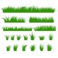 Grass Borders Set, Green Tufts vector