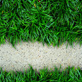 Grass and concrete background. Royalty Free Stock Photo