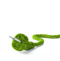 Grass covered electrical plug Royalty Free Stock Photos