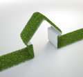 Grass covered house symbol Royalty Free Stock Photo