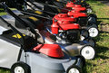 Grass cutters for sale Royalty Free Stock Photo