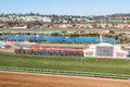 Grass and dirt racetracks at Del Mar Royalty Free Stock Photo