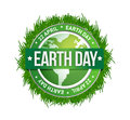 Grass earth day written inside the stamp illustration design Stock Photos