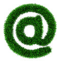 Grass Email symbol Royalty Free Stock Images