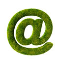 Grass email symbol d render see my other works in portfolio Royalty Free Stock Photography