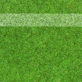 Grass field with white line Royalty Free Stock Photo