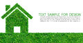 Grass home icon Stock Photography