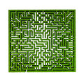 Grass maze Royalty Free Stock Photos