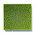 Grass maze Stock Photo