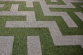 Grass Maze View from Top View Royalty Free Stock Photo