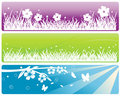 Grass and meadows web banners