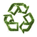 Grass recycle symbol Royalty Free Stock Photography