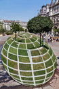 Grass Sculpture in Paris Royalty Free Stock Image