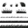 Grass seamless black and white Royalty Free Stock Photo