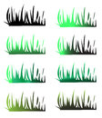 Grass silhouettes Royalty Free Stock Photography