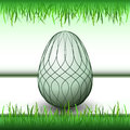 Grass stripes handmade easter egg illustration Royalty Free Stock Photography