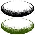 Grass vector logo Royalty Free Stock Photo