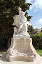 Grasse statue of fragonard jean honore famous french painter and printmaker in village provence france Stock Images