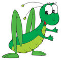 Grasshopper (vector clip-art) Royalty Free Stock Image