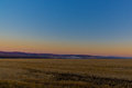 Grassland at late autumn morning Royalty Free Stock Photo