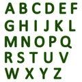 Grassy alphabet Royalty Free Stock Photo