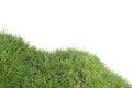 Grassy Down Hill Cutout Royalty Free Stock Photo