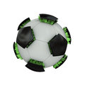 Grassy soccer ball. Royalty Free Stock Photo