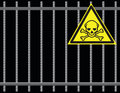 Grate toxic substances Royalty Free Stock Images