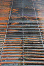 Grate worn in industrial building Royalty Free Stock Photo