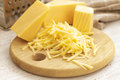 Grated cheese board Royalty Free Stock Image