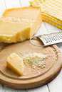 Grated italian hard cheese the Royalty Free Stock Images