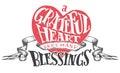 Grateful heart sees many blessings illustration