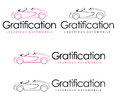 Gratification automobile company logo design Royalty Free Stock Image