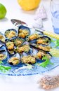 Gratin with Shellfish Mussels, Seafood, Shellfish Mussels Recipes Royalty Free Stock Photo
