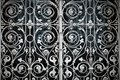 Grating with floral patterns Royalty Free Stock Photo