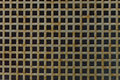 Grating in front of a basement window on the university campus kiel Royalty Free Stock Photography