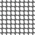 Grating seamless pattern on white background Royalty Free Stock Images