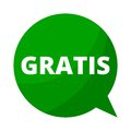 Gratis, Green Speech Bubble Royalty Free Stock Photo