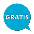 Gratis with shadow, Speech Bubble Royalty Free Stock Photo